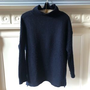 Navy Wool Turtleneck